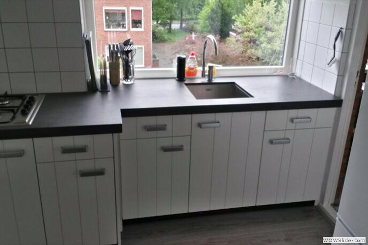 Moderne keuken met bealmortex-blad