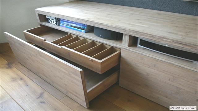 Bamboe audio-meubel
