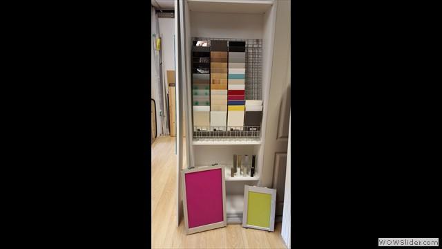 De schuifdeuren zijn in vele kleuren en modellen te verkrijgen